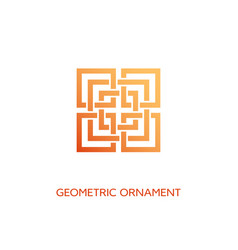 Geometric ornament vector
