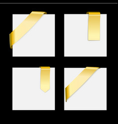 golden ribbons set - design gradient vector image
