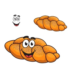Gourmet plaited crusty loaf of bread vector