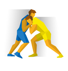 Greco-roman freestyle wrestling vector