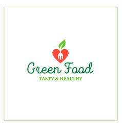 Green food emblem vector