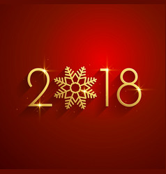 happy new year 2018 red golden background design vector image