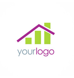 home investment business logo vector image