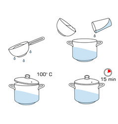 how to cook rice with few ingredients easy recipe vector image