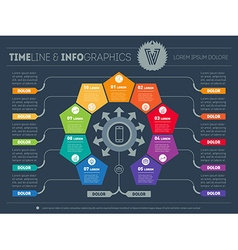 Infographic technology or education process vector