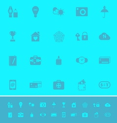 Insurance sign color icons on light blue vector image