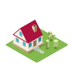 isolated isomatic house property set vector image
