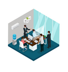 Isometric business innovations concept vector