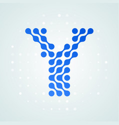 letter y logo halftone icon vector image