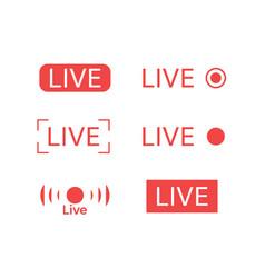 live steam logo vector image