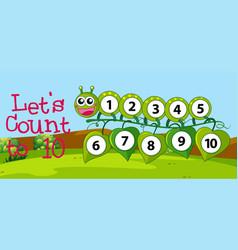 Math count number to ten vector