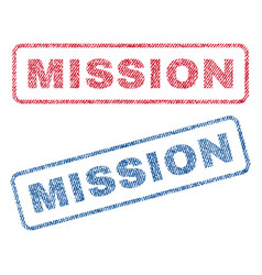 Mission textile stamps vector
