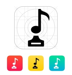 Music icon on white background vector image