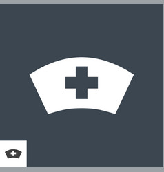 nurse hat related glyph icon vector image