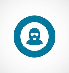 Offender bold blue border circle icon vector