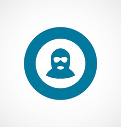 offender bold blue border circle icon vector image