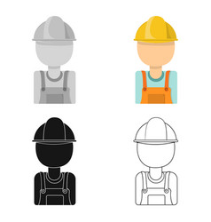 Oil worker icon in cartoon style isolated on white vector