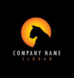 Panther sun logo vector