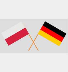 Poland and german flags vector