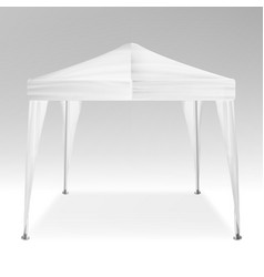 Promotional tent advertising outdoor event vector