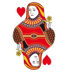 Queen of hearts no card vector image