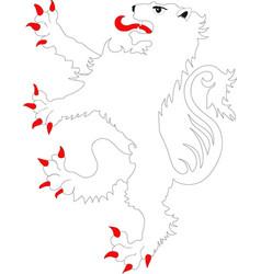 rampant lion - the heraldic symbol vector image