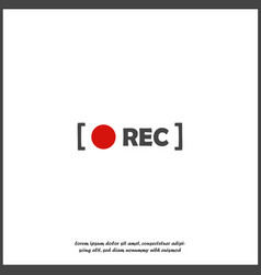 Rec icon on white isolated background vector