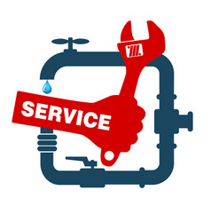 Repair plumbing and sanitary ware vector