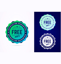 Round free sticker tag button badge vector