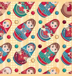 russian souvenir matryoshka - babushka doll vector image