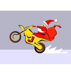 Santa Claus ride motorcycle vector