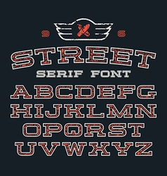 Serif font in street style vector