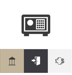 set of 4 editable motel icons includes symbols vector image
