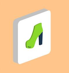 shoe computer symbol vector image