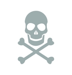skull danger icon vector image