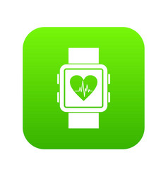 smartwatch icon digital green vector image