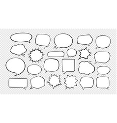 speech bubbles cartoon vector image