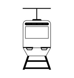 tranvia public transport black and white vector image
