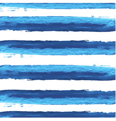 Watercolor blue stripes background vector