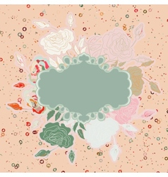 Wedding card with abstract floral EPS 8 vector