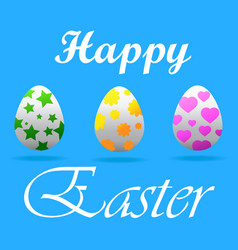 a happy easter greeting card vector image