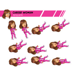 dying career woman game sprite vector image vector image