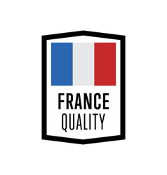 france quality isolated label for products vector image vector image