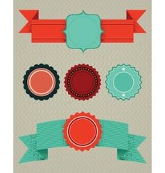 set of retro design elements vector image vector image