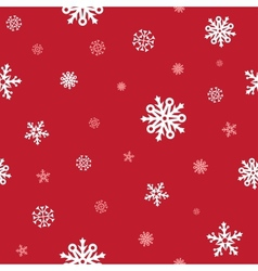 snow red pattern vector image