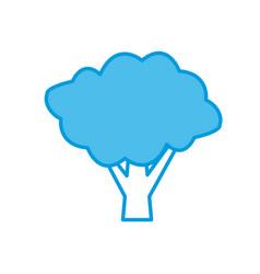 tree eco symbol vector image vector image