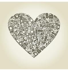 Heart electronics vector image vector image
