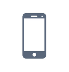 mobile icon isolated on white background vector image