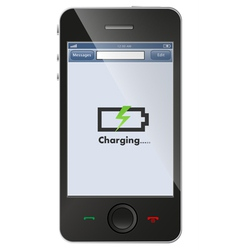 phone charging vector image vector image