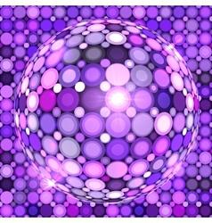 Violet shining disco ball vector image